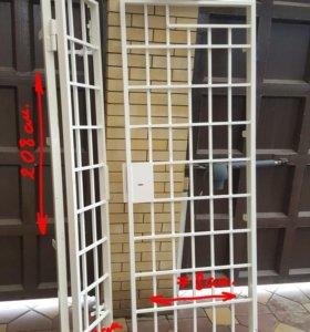 Решетка на двери (из цельного квадрата) тяж