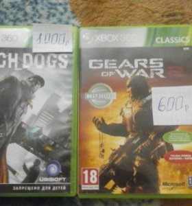 Игры для икс бокса 360 Watgh dogs и Gears of war 2