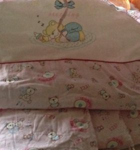 Бортики в кроватку за 3 киндера