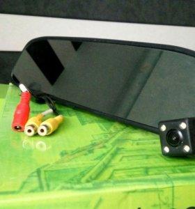Комплект зеркало + камера заднего вида