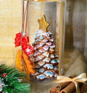 Авторские елки из имбирного печенья