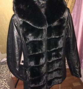 Куртка зимняя с мехом норки