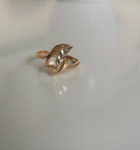 Золотое кольцо с пробой 585
