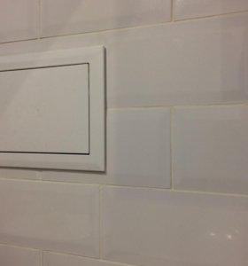Плитка керамическая белая 9,8*19,8см