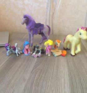 Пони + лошади  ( 8 штук)