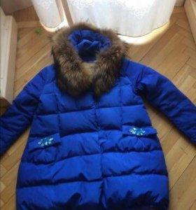 Продаю тёплую и красивую куртку, с авторским декор