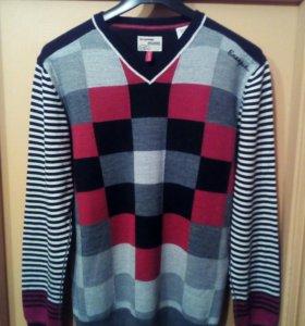 Пуловер легкий, полушерстяной