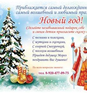 Сказка На Дом с Участием Деда Мороза и Снегурочки)