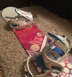Продам сноуборд,крепление и ботинки
