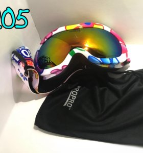 Горнолыжные очки цветная оправа