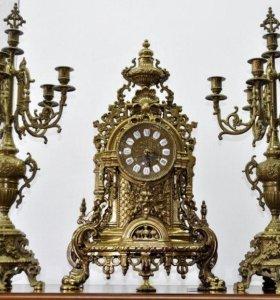 Старинные каминные часы k431