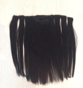 Натуральные волосы 45 см, на заколках