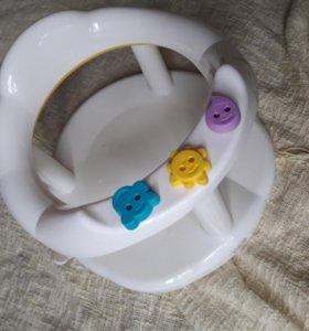 Горка, сидение для купания + круг на шею в подарок