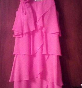платье вечернее,цвет коралл