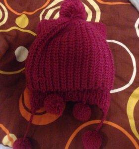 Вязаные шарф и шапка