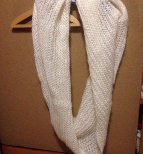 Вязаный шерстяной шарф, снуд