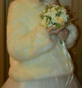 Свадебная шубка 42-46р