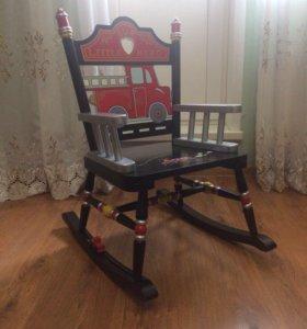 Детское кресло-качалка «пожарный»