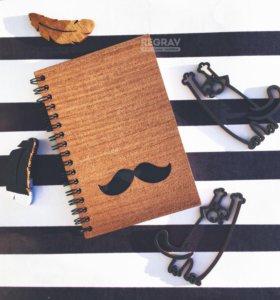 Блокноты / скетчбуки с деревянной обложкой 10х15см