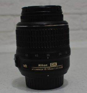 Объектив Nikon 18-55 mm f/3.5-5.6G ED VR AF-S DX