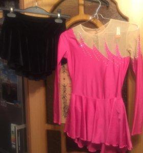 Фигурное платье +юбка
