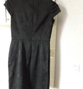 Платье (черное маленькое платье). Размер 44
