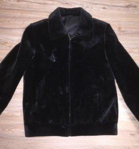 Мужское пальто искусственный мех