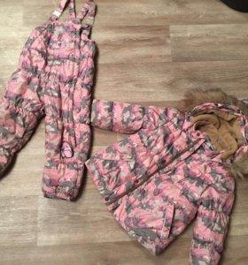 Зимний тёплый костюм Huppa