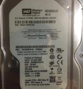 Жёсткий диск на 320 гб новый
