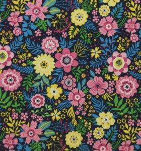 Ткань курточная Цветы
