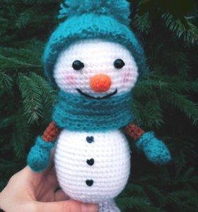 Вязаные игрушки снеговик ⛄️