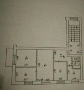 Квартира, 4 комнаты, 60.9 м²