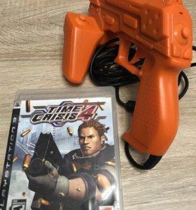 Time Crisis 4, игра для PS3 + пистолет.