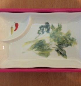 Новая тарелка для зелени