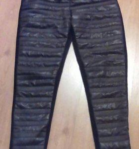Стеганые тёплые штаны,новые,46