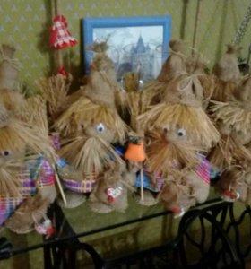 Домовята, обереги славянские, новогодние поделки