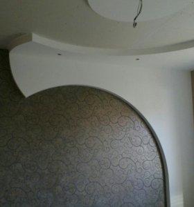 Потолки из гипсокартона, под ключ