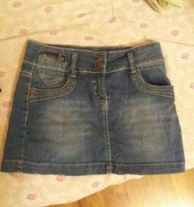 Джинсовые мини юбки