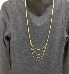Ожерелье из цепочек на шею