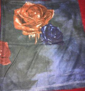 Кашемировый платок-палантин