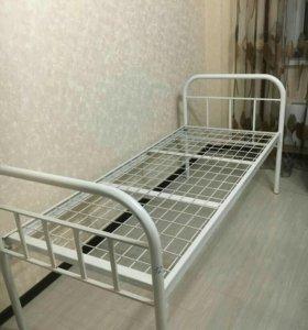 Кровать медицинская металлическая.