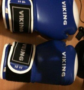 Перчатки боксерские+бинты