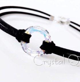 Стильный чокер с кристаллом Swarovski