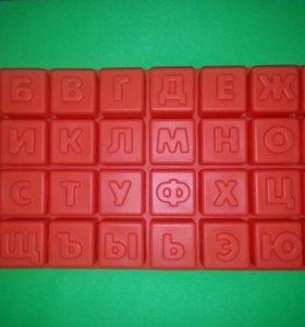 Алфавит форма для изготовления шоколадных букв