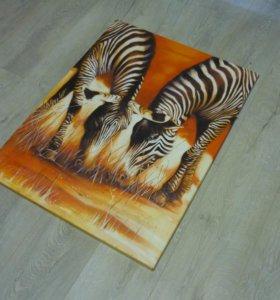Икеа Картина 2 зебры ikea