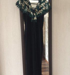 Вечернее платье, ткань бархат
