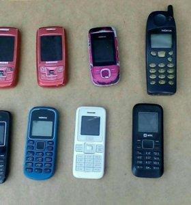 Телефоны рабочие 8 шт