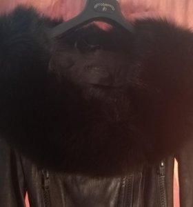 Бренд!👑 Новый кожаный комбенизон с мехом Jitrois