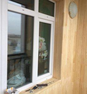 Обшивка балконов и лоджий ( под ключ)