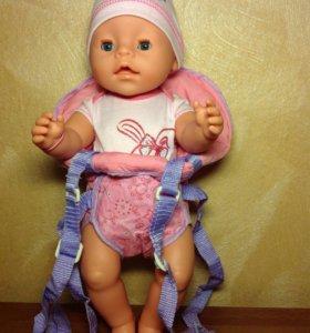 Рюкзак-кенгуру для куклы Baby Born новый